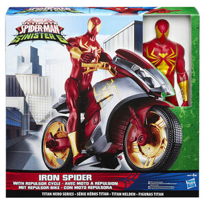 Giocattolo Figure Marvel Spiderman + Repulsor Cycle Hasbro