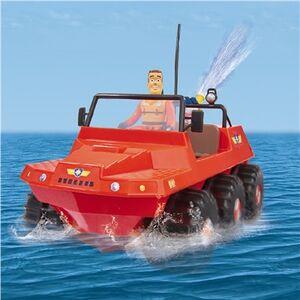 Giocattolo Sam Il Pompiere. Veicolo Land And Sea Hydrus con Radiocomando Giochi Preziosi 2