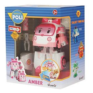 Robocar Poli Robot trasformabile con Luci-Amber 16,5X13X20 8309 Rocco Giocattoli