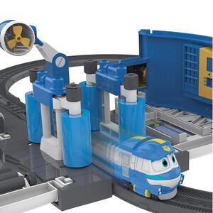 Robot trains playset stazione di lavaggio di kay - 12