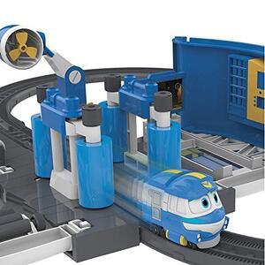 Robot trains playset stazione di lavaggio di kay - 5