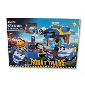 Robot trains playset stazione di lavaggio di kay - 8