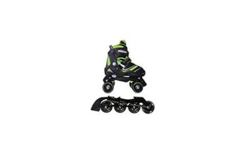 Pattini a rotelle trasformabili in pattini in linea 2in1 REVERSE verde lime misura M - 2