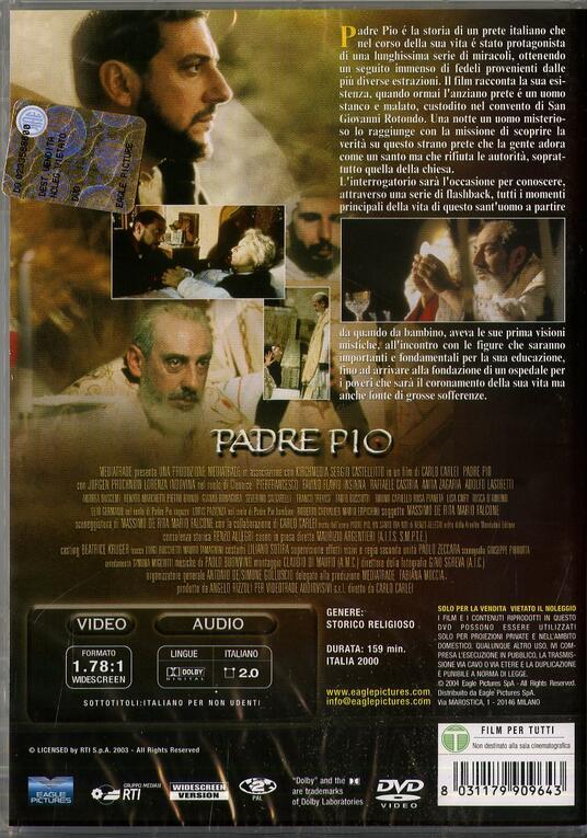 Padre Pio di Carlo Carlei - DVD - 2