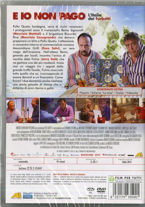 E io non pago di Alessandro Capone - DVD - 2
