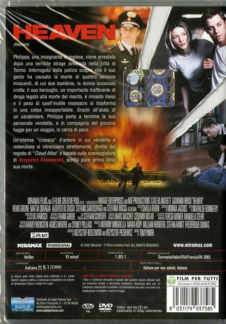 Heaven di Tom Tykwer - DVD - 2