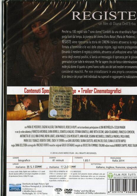 Registe, dialogando su una lametta di Diana Dell'Erba - DVD - 2