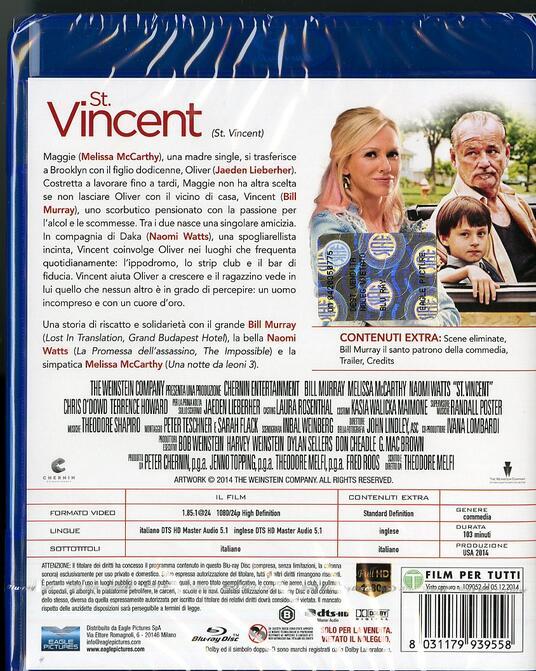 St. Vincent di Ted Melfi - Blu-ray - 2
