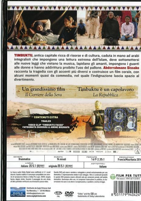 Timbuktu di Abderrahmane Sissako - DVD - 2