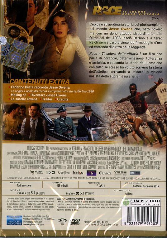 Race. Il colore della vittoria di Stephen Hopkins - DVD - 8