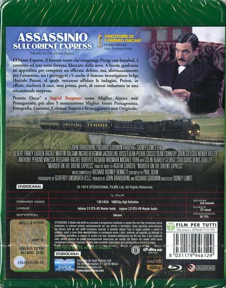 Assassinio sull'Orient Express (Blu-ray) di Sidney Lumet - Blu-ray - 2