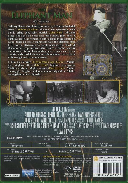 The Elephant Man (DVD) di David Lynch - DVD - 2