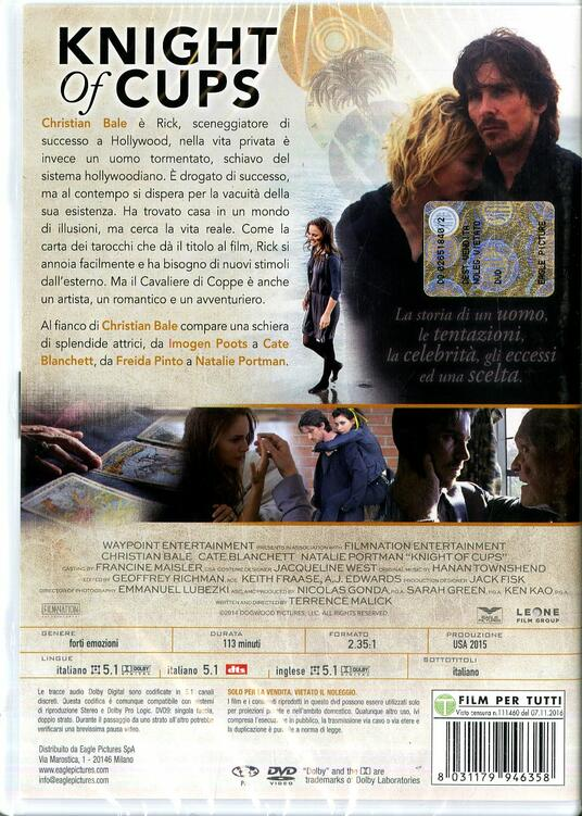 Knight of Cups (DVD) di Terrence Malick - DVD - 2