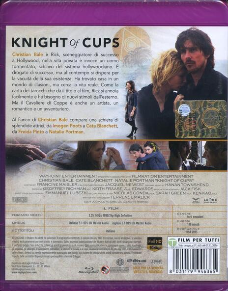 Knight of Cups (Blu-ray) di Terrence Malick - Blu-ray - 2