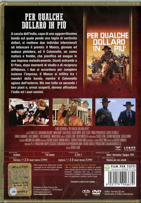 Per qualche dollaro in più (DVD) di Sergio Leone - DVD - 2
