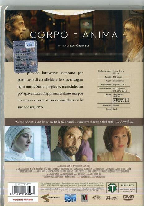 Corpo e anima (DVD) di Ildikò Enyedi - DVD - 2