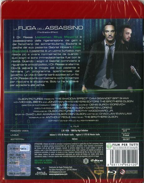 The Shadow Effect. La fuga dell'assassino (Blu-ray) di Obin Olson,Amariah Olson - Blu-ray - 2