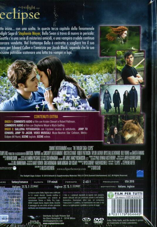 Eclipse. The Twilight Saga. Digibook Limited Edition (2 DVD) di David Slade - DVD - 2