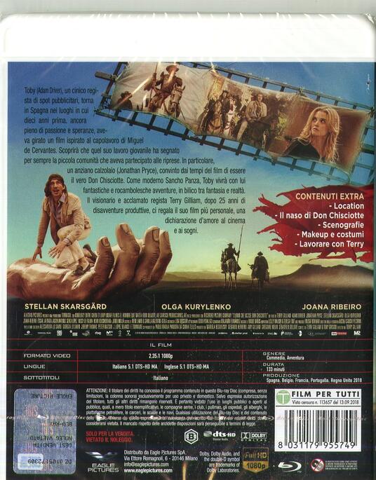 L' uomo che uccise Don Chisciotte (Blu-ray) di Terry Gilliam - Blu-ray - 2