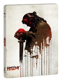 Cover Dvd Hellboy. Con Steelbook e 10 card da collezione (Blu-ray + Blu-ray 4K Ultra HD)