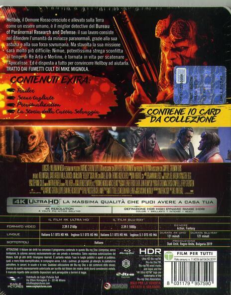 Hellboy. Con Steelbook e 10 card da collezione (Blu-ray + Blu-ray 4K Ultra HD) di Neil Marshall - Blu-ray + Blu-ray Ultra HD 4K - 2