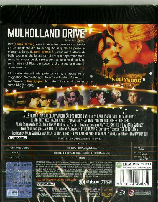 Mulholland Drive (DVD + Blu-ray) di David Lynch - DVD + Blu-ray - 2