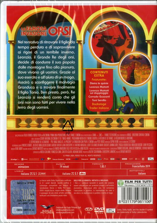 La famosa invasione degli orsi in Sicilia. Con gioco degli orsi (DVD) di Lorenzo Mattotti - DVD - 3