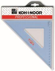 Cartoleria Squadra in plexiglass trasparente Koh-I-Noor. 45 gradi,  lunghezza 36 cm Koh-I-Noor