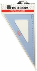 Cartoleria Squadra in plexiglass trasparente Koh-I-Noor. 60 gradi,  lunghezza 36 cm Koh-I-Noor