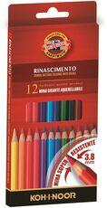 Cartoleria Pastelli acquarellabili Mondeluz Koh-I-Noor con mina gigante 3,8 mm. Confezione 12 matite colorate Koh-I-Noor