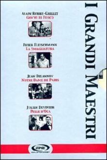 I grandi maestri. Vol. 3 (4 DVD) di Jean Delannoy,Julien Duvivier,Peter Fleischmann,Alain Robbe-Grillet