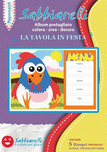Cartoleria Album 5 disegni Papersand. La Tavola in festa Sabbiarelli Sabbiarelli 0