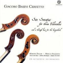 Sei sonate per tre violoncelli - CD Audio di Giacobbe Basevi Cervetto
