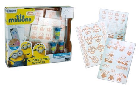 Minions. All Over Glitter Tattoo Kit - 8