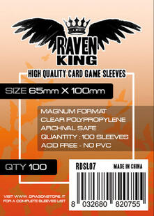 RAVEN KING Bustine Protettive 65x100mm
