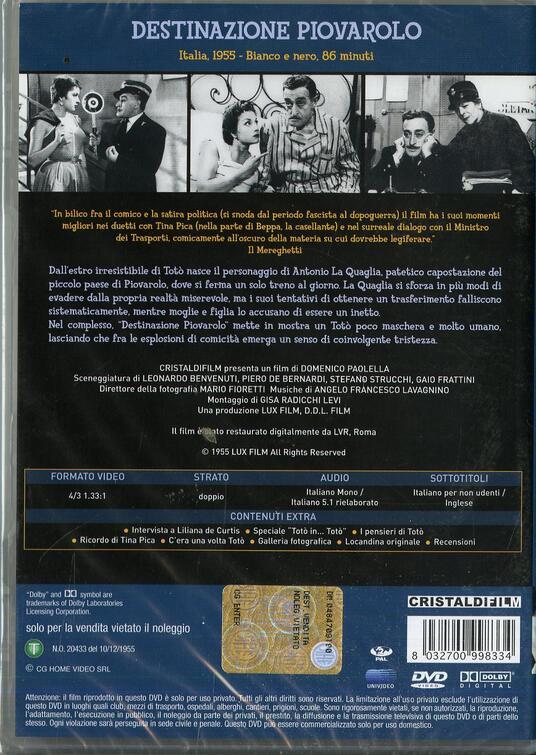 Destinazione Piovarolo di Domenico Paolella - DVD - 2