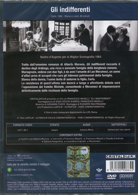 Gli indifferenti di Francesco Maselli - DVD - 2