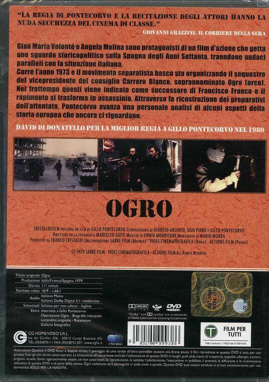 Ogro di Gillo Pontecorvo - DVD - 2