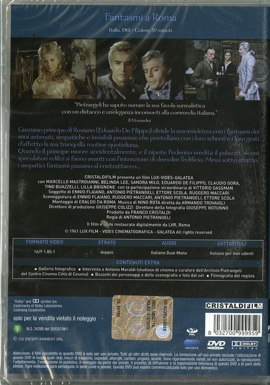 Fantasmi a Roma di Antonio Pietrangeli - DVD - 2