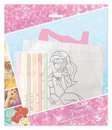 Borsetta Da Colorare Con 6 Pennarelli. Principesse Disney. Mc Pr0419