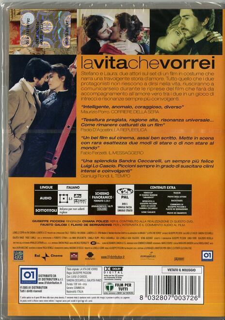 La vita che vorrei di Giuseppe Piccioni - DVD - 2