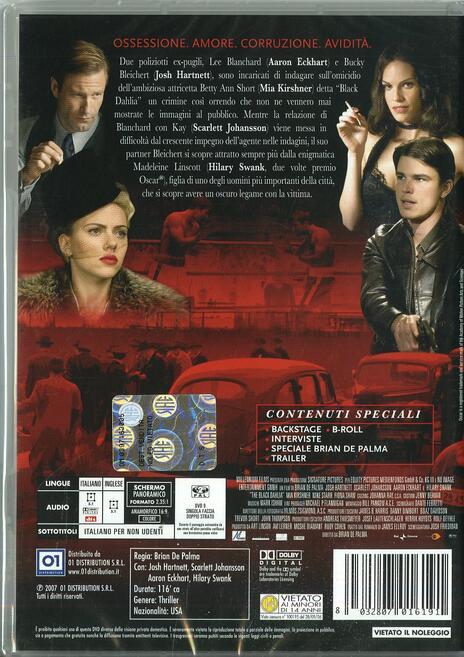 Black Dahlia di Brian De Palma - DVD - 2