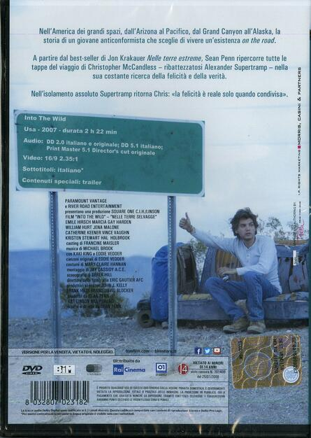 Into The Wild Nelle Terre Selvagge Dvd Film Di Sean Penn