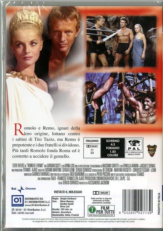 Romolo e Remo di Sergio Corbucci - DVD - 2