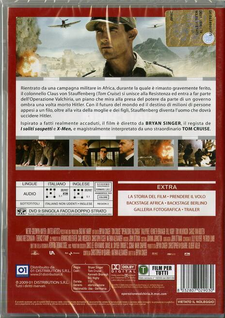 Operazione Valchiria di Bryan Singer - DVD - 2