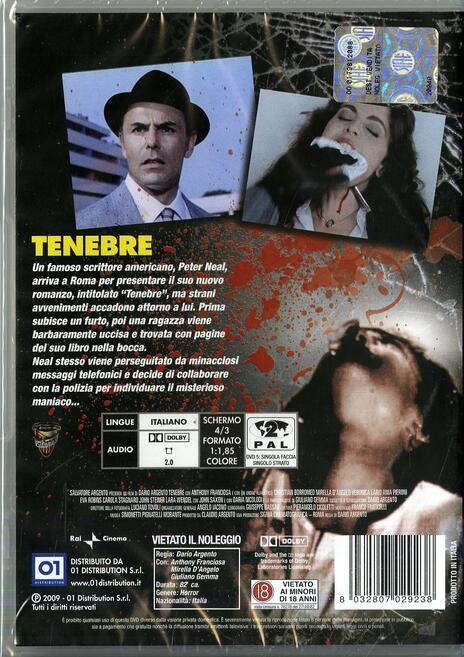 Tenebre di Dario Argento - DVD - 2