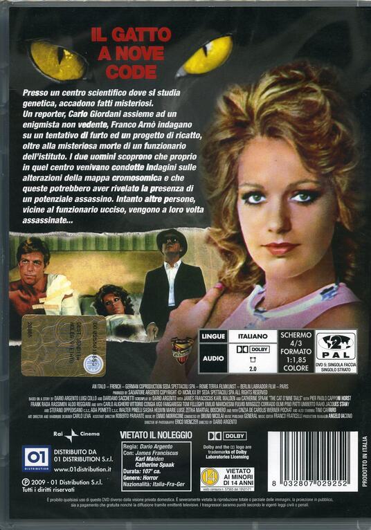 Il gatto a nove code di Dario Argento - DVD - 2