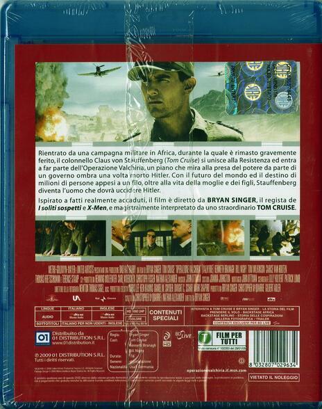 Operazione Valchiria di Bryan Singer - Blu-ray - 2