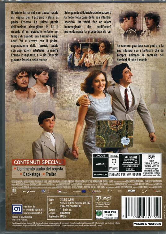 L' uomo nero di Sergio Rubini - DVD - 2