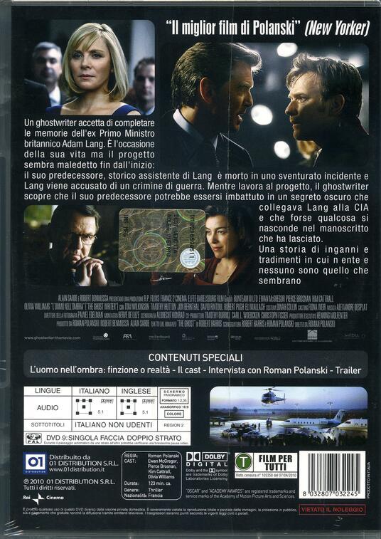 L' uomo nell'ombra. The Ghost Writer di Roman Polanski - DVD - 2